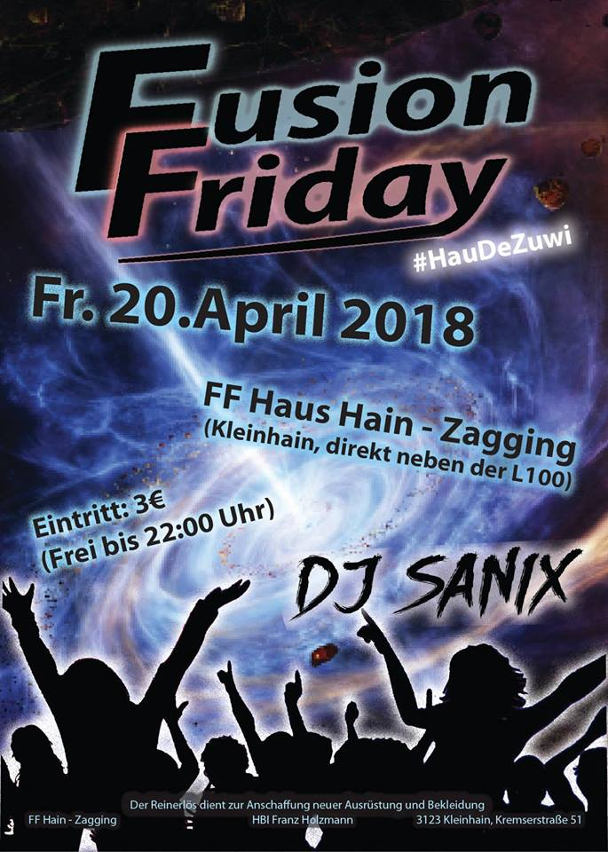 Fusion Friday 2018 Flyer